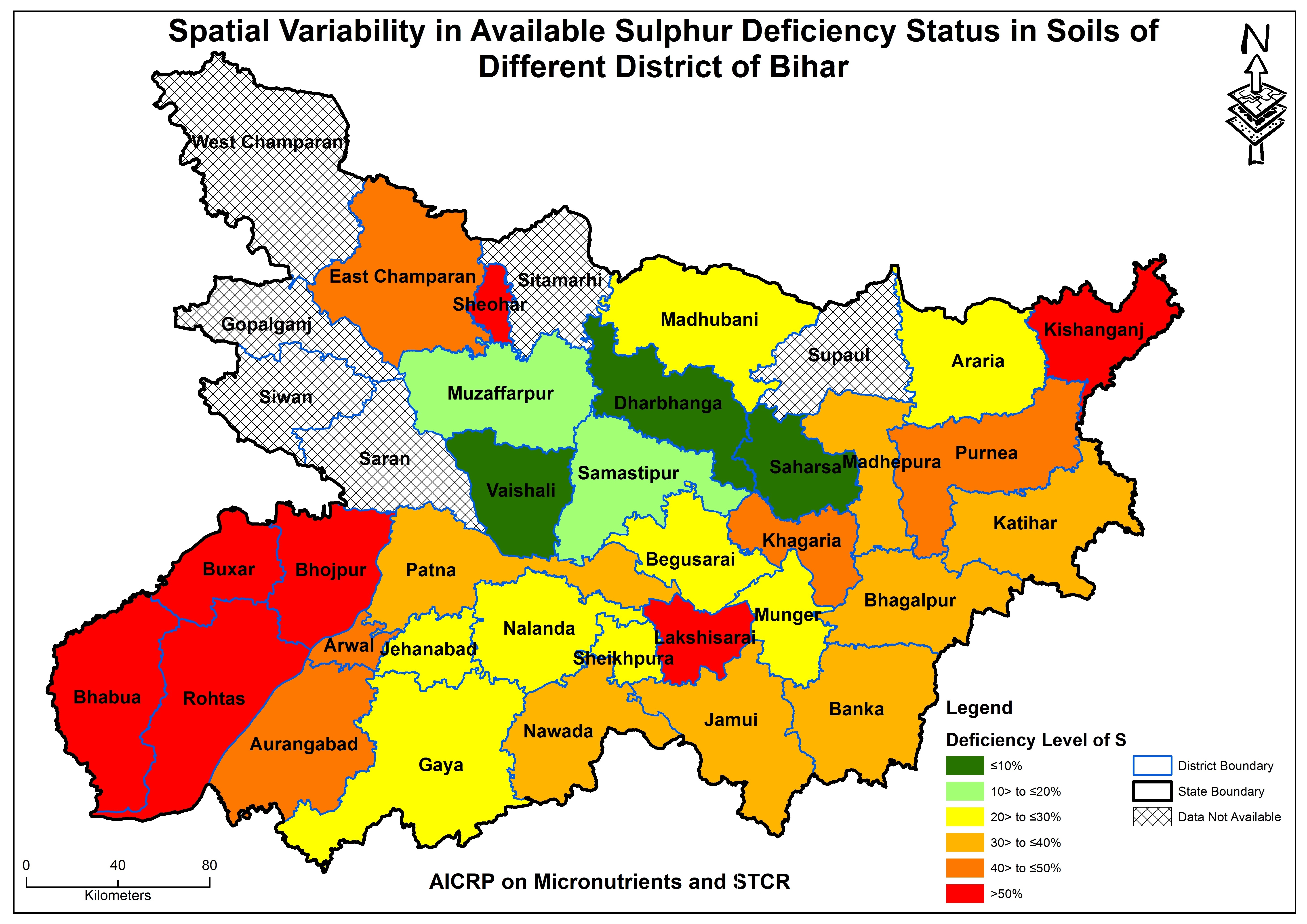Map Of Bihar Micro nutrient Deficiency Map   Dr. Rajendra Prasad Central  Map Of Bihar